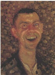 Self-Portrait Laughing by Richard Gersti 1907