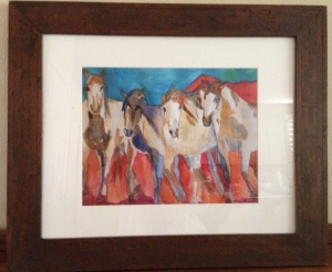 """Wild Horses"" by watercolorist Lynn Centeno"