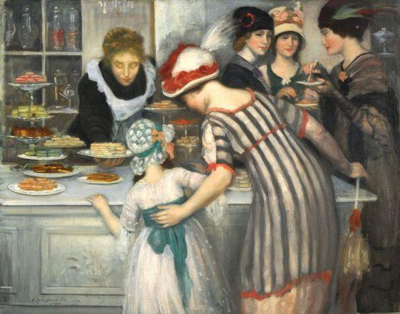 Dans la Patisserie by Henry Caro Del Vaille (1876-1928