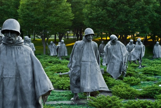 The Korean War Memorial courtesy of www.maze.com