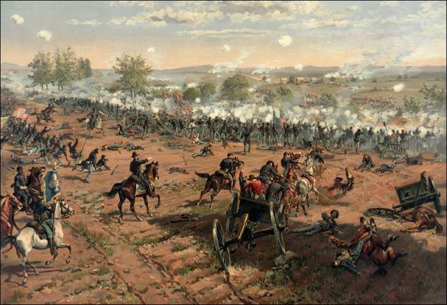 """Hancock at Gettysburg"" by Thure de Thulstrup"