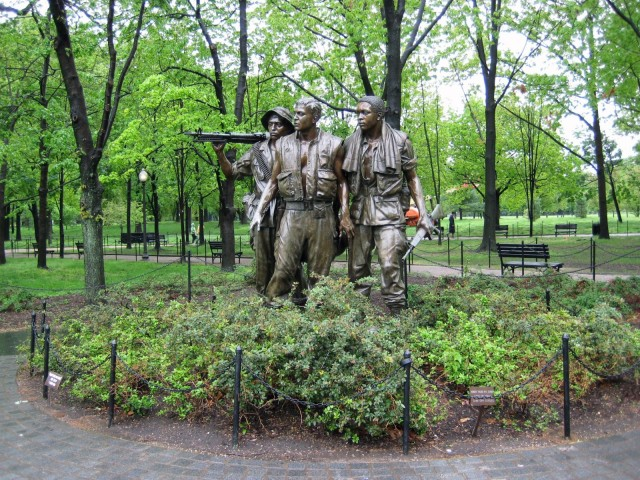 The Vietnam Veterans Memorial In Washington, D.C.: Memorial Sculptures Of The Three Soldiers