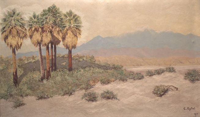 Desert_near_Palm_Springs_Oil_painting_by_Carl_Eytel_(1914)