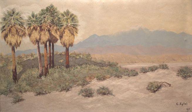 Desert_near_Palm_Springs_Oil_painting_by_Carl_Eytel_(1914)